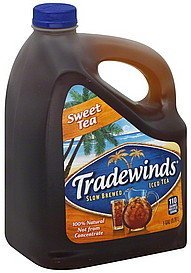 iced tea slow brewed, sweet tea Tradewinds Nutrition info