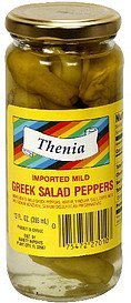 imported mild greek salad peppers Thenia Nutrition info