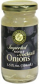imported sour cocktail onions Fanci Food Nutrition info