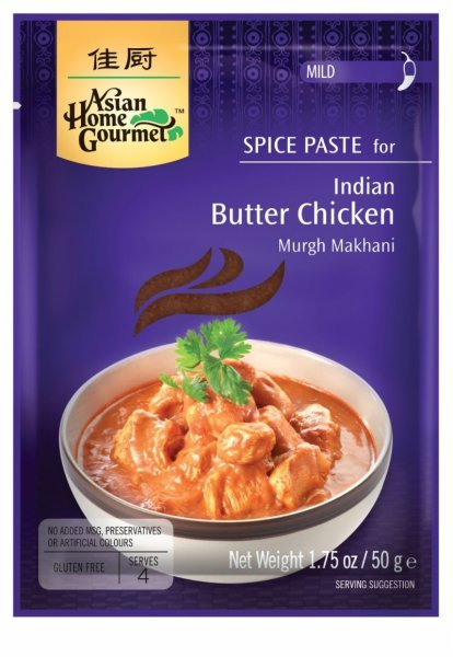 indian butter chicken spice paste Asian Home Gourmet Nutrition info