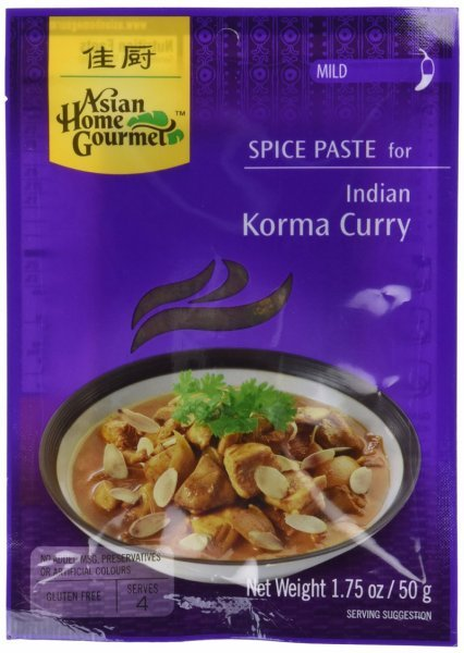 indian korma curry Asian Home Gourmet Nutrition info