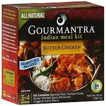 indian meal kit butter chicken, mild Gourmantra Nutrition info