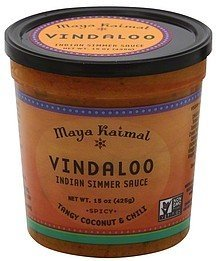 indian vindaloo spicy, tangy coconut and chili Maya Kaimal Nutrition info