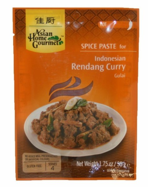 indonesian rendang curry Asian Home Gourmet Nutrition info