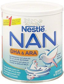infant formula milk-based, dha & ara powder NAN Nutrition info