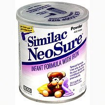 infant formula with iron, powder NeoSure Nutrition info