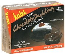 instant chocolate pudding and pie filling Kojel Nutrition info