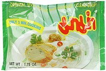 instant flat noodle oriental style, clear soup Mama Nutrition info