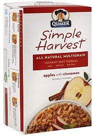 instant hot cereal apples with cinnamon Simple Harvest Nutrition info
