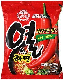 instant noodle asian style, hot taste Ottogi Nutrition info