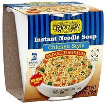 instant noodle soup chicken style Tradition Nutrition info