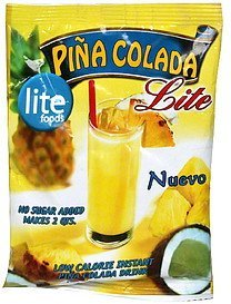 instant pina colada drink low calorie Lite Foods Nutrition info
