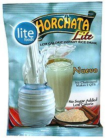 instant rice drink low calorie, horchata lite Lite Foods Nutrition info