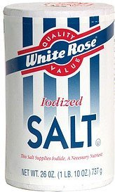 iodized salt White Rose Nutrition info
