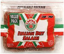 italian dry salami twin pack Cariani Nutrition info