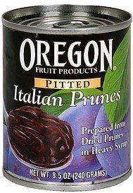 italian prunes pitted, in heavy syrup Oregon Fruit Products Nutrition info
