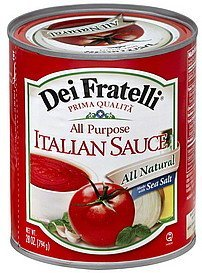 italian sauce all purpose Dei Fratelli Nutrition info