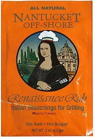 italian seasonings for grilling renaissance rub Nantucket Off-Shore Nutrition info
