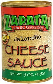 jalapeno cheese sauce spicy Zapata Nutrition info