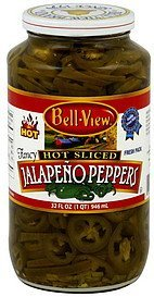 jalapeno peppers hot sliced Bell View Nutrition info