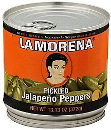 jalapeno peppers pickled La Morena Nutrition info