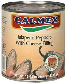 jalapeno peppers with cheese filling Calmex Nutrition info