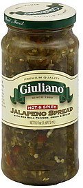 jalapeno spread hot & spicy Giuliano Nutrition info