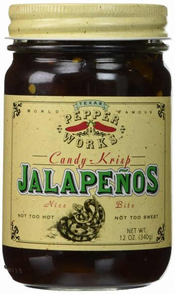 jalapenos candy-krisp Texas Pepper Works Nutrition info