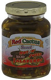 jalapenos sliced, hot-n-sweet Red Cactus Nutrition info