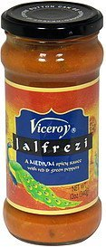 jalfrezi sauce, medium spicy Viceroy Nutrition info