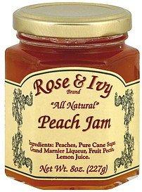 jam peach Rose & Ivy Nutrition info
