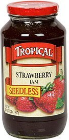 jam seedless, strawberry Tropical Nutrition info