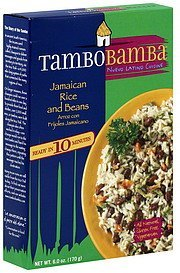jamaican rice and beans TamboBamba Nutrition info