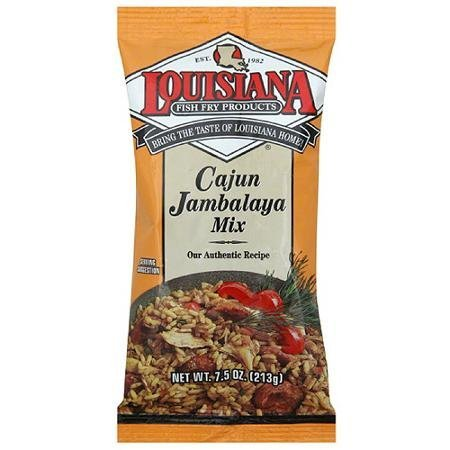 jambalaya mix cajun Louisiana Fish Fry Products Nutrition info
