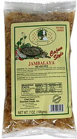 jambalaya readi-mix cajun style Chef Hans Nutrition info