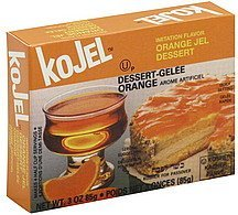 jel dessert orange Kojel Nutrition info