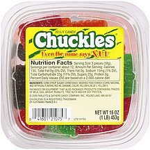 jelly candy Chuckles Nutrition info
