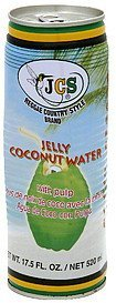 jelly coconut water with pulp Jcs Reggae Country Style Brand Nutrition info