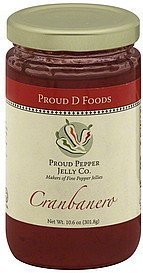 jelly cranbanero Proud D Foods Nutrition info