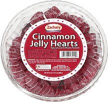 jelly hearts cinnamon Zachary Nutrition info