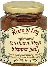 jelly pepper, southern pecan Rose & Ivy Nutrition info