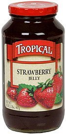 jelly strawberry Tropical Nutrition info