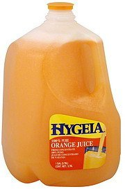 juice 100% pure orange Hygeia Nutrition info
