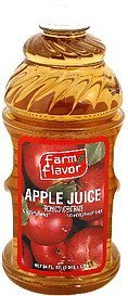 juice apple, unsweetened Farm Flavor Nutrition info