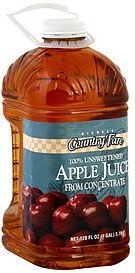 juice apple Midwest Country Fare Nutrition info