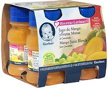 juice blends mango Gerber Nutrition info