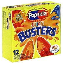 juice buster fruit pops Popsicle Nutrition info