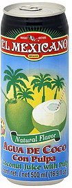juice coconut, with pulp El Mexicano Nutrition info