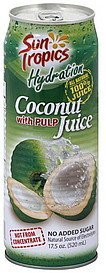 juice coconut, with pulp Sun Tropics Nutrition info