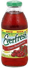 juice cran raspberry Everfresh Nutrition info